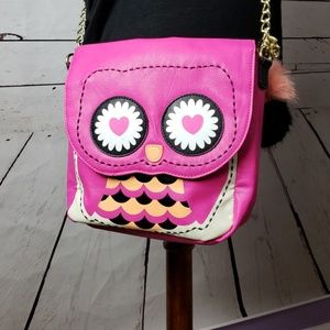 Betsey Johnson Hoot Owl crossbody bag